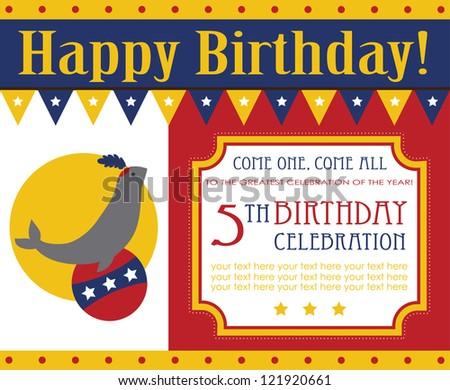Kid birthday invitation card design vector stock vector royalty kid birthday invitation card design vector illustration filmwisefo
