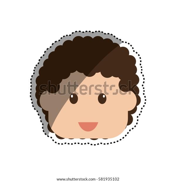 Kid boy face icon vector illustration graphic design