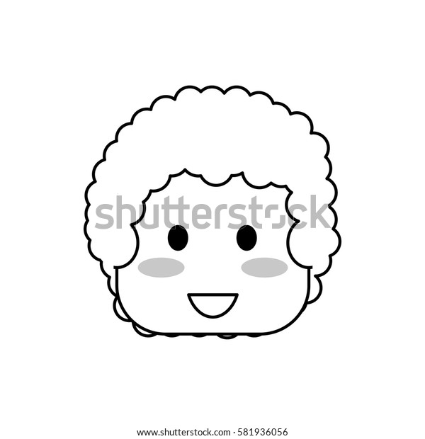 Kid boy face icon vector illustration graphic design