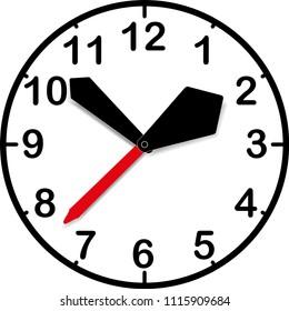 Kid clocks. Vector Illustration