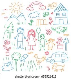 Kids Drawing Images, Stock Photos & Vectors | Shutterstock