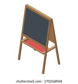 Kid easel icon. Isometric of kid easel vector icon for web design isolated on white background