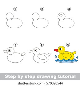 Kid Education Gaming Drawing Tutorial Preschool Stock Vector