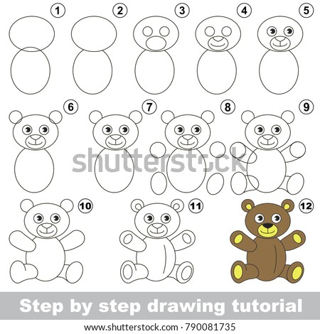 Kid Game Develop Drawing Skill Easy Stock Vector Royalty Free