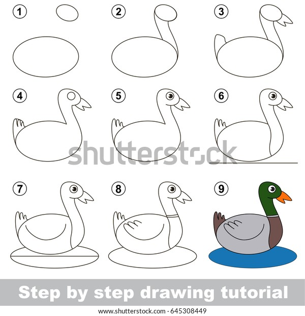Easy Pato Drawing