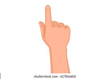 Kid Hand pointer vector illustration