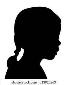 kid head silhouette vector