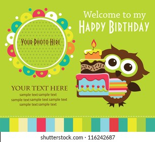 Kid Invitation Card Design Vector Illustration