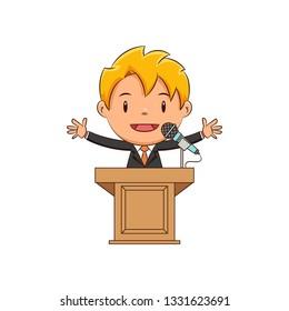 Kid podium speech