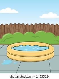 Kid Pool - vector illustration