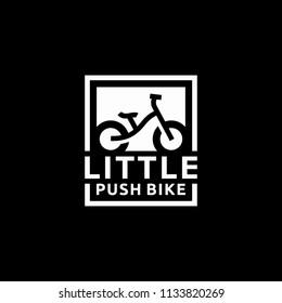 Kid Push Bike Bicycle logo design inspiration