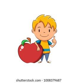 Kid red apple