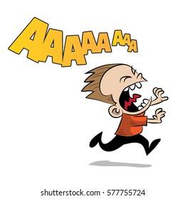 scared children cartoon images stock photos vectors shutterstock https www shutterstock com image vector kid running scared 577755724