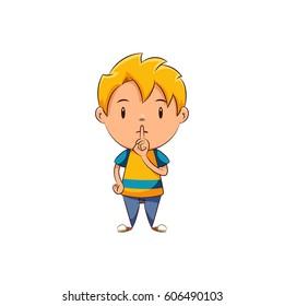 Kid silence gesture