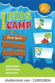 Kid Summer Vacation Template, Event Invitation, Festival Flyer, Summer Camp