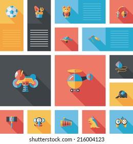 kid toys flat app ui background,eps10