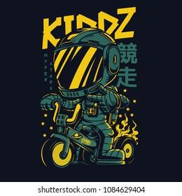 Kiddz Astro Illustration
