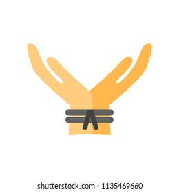 Kidnapping icon vector isolated on white background for your web and mobile app design, Kidnapping logo concept