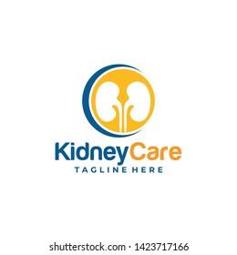 kidney care logo icon vector