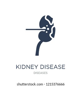 Kidney Disease (Chronic Kidney Disease) icon. Trendy flat vector Kidney Disease (Chronic Kidney Disease) icon on white background from Diseases collection, vector illustration can be use for web