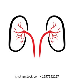 kidney doodle icon vector hand drawing