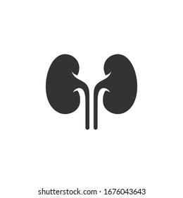 Kidney icon vector. Urology logo design template.