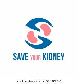 Kidney logo design vector template