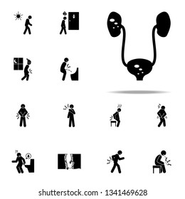 kidney, stone icon. Pain People icons universal set for web and mobile