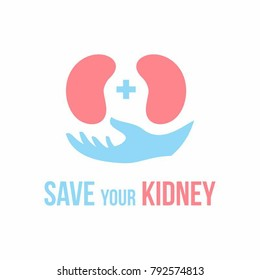 Kidneys vector illustration, kidney logo template