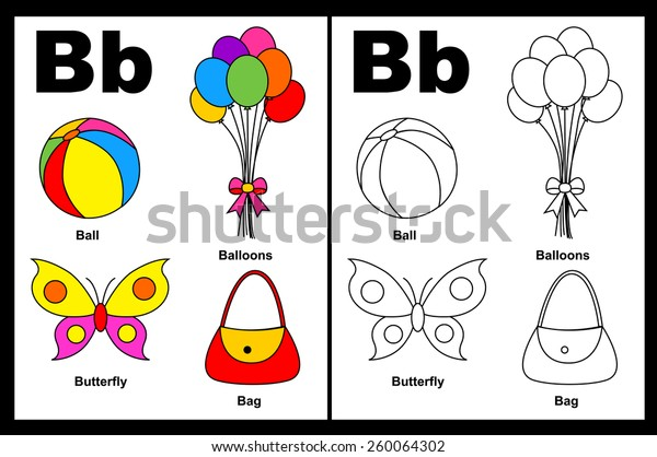 - Kids Alphabet Coloring Book Page Outlined Stock Vector (Royalty Free)  260064302