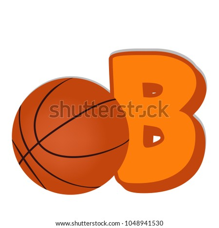 kids alphabet learning b ball vector stock vector royalty free
