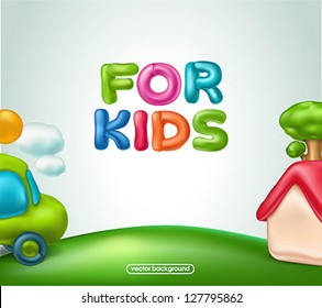 For kids background