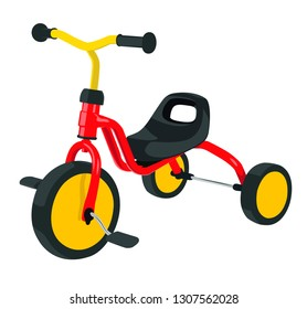 kids bike realistic vector illustration isolated