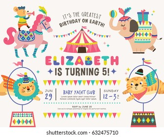 invitation card for a birthday party