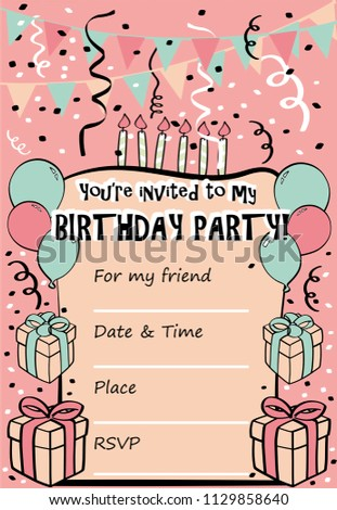 you re invited birthday template