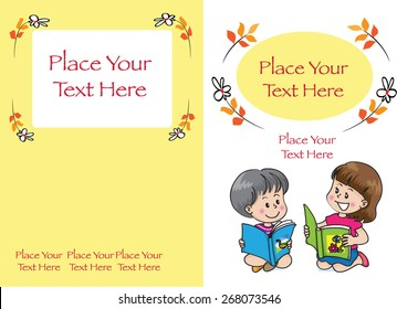 kids book cover design in yellow background