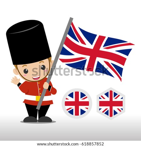 kids british soldier illustration stock vector royalty free
