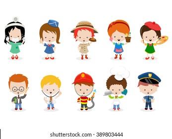 Cartoon Kids Career Images Stock Photos Vectors Shutterstock