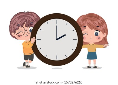 Kids cartoons design, School education lesson study learning classroom information and knowledge theme Vector illustration
