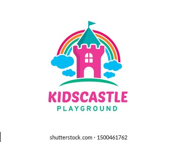 Kids Castle logo symbol or icon template
