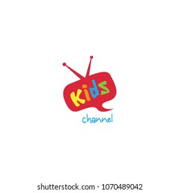 Kids channel logo icon design template. Vector illustration