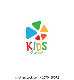 Kids channel logo icon design template. Vector illustration