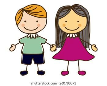Kids and Children design, vector illustration