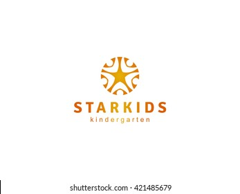 Kids Club Logo, Vector Logo template.