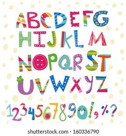 Kids Alphabet Images Stock Photos Vectors