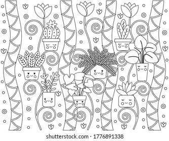 Kids Drawing Flower Pot High Res Stock Images Shutterstock