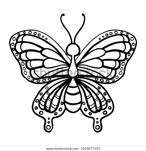 Kids Coloring Pages Butterfly Royalty Free Stock Image