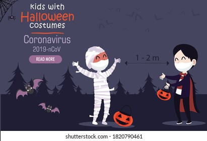 kids costumes with medical mask for halloween covid 19