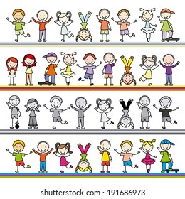 Kids design over white background, vector illustration