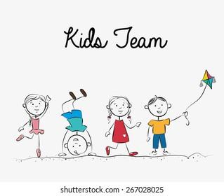 Kids design over white background, vector illustration.